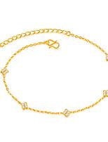cheville / bracelet cubique zircone titane acier adorable élégant cercle bijoux pour mariage soirée