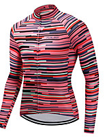 cheap -Cycling Jersey Men's Long Sleeves Bike Jersey High Elasticity Winter Mountain Cycling Road Cycling Cycling Bike Bike/Cycling Red