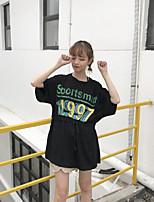 T-shirt Da donna Casual Romantico Alfabetico Rotonda Cotone Manica corta
