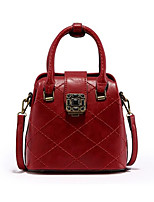 Women Bags All Seasons PU Tote Zipper for Casual Gray Red Black