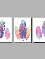 Dipinta a mano Astratto Artistico Astratto Stile naturalistico Compleanno Moderno/Contemporaneo Ufficio Fantastico Natale Capodanno Tre