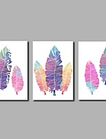 Hånd-malede Abstrakt Kunstnerisk Abstrakt Natur-inspirert Fødselsdag Moderne / Nutidig Kontor/Forretning Sej Jul Nytår Tre Paneler Kanvas