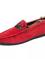 Для мужчин обувь Замша Весна Осень Обувь для дайвинга Мокасины и Свитер Назначение Повседневные Черный Серый Красный