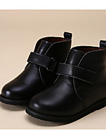 Girls' Shoes Cowhide Fall Winter Comfort Bootie Boots For Casual Black