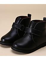 Fille Chaussures Cuir Automne Hiver Confort Botillons Bottes Pour Décontracté Noir