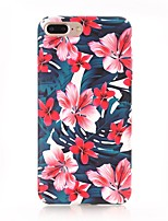cheap -Case For Apple iPhone X iPhone 8 Frosted Pattern Back Cover Flower Hard PC for iPhone X iPhone 8 Plus iPhone 8 iPhone 7 Plus iPhone 7