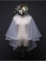Two-tier Wedding Veil Elbow Veils With Ruched Tulle