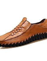Homme Chaussures Cuir Nappa Printemps Automne Confort Mocassins et Chaussons+D6148 Elastique Pour Décontracté Soirée & Evénement Noir