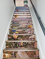 Известные картины Пейзаж 3D Наклейки Простые наклейки 3D наклейки 3D,Бумага материал Украшение дома Наклейка на стену