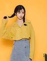 Camicia Da donna Casual Camicie Tinta unita Colletto Altro Manica lunga