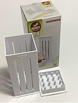 BBQ Grill 16 Hole Skewers Food Slicer Brochette Grill Kebab Maker Box Kit Tool