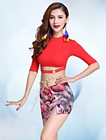 Belly Dance Outfits Women's Performance Modal Milk Fiber Half Sleeve Dropped Skirts Tops
