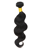 Human Hair Peruvian Natural Color Hair Weaves Body Wave Hair Extensions 1 Piece Black