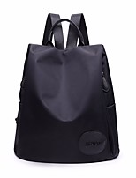 Women Bags Spring Summer Nylon Shoulder Bag Zipper for Casual Black Purple