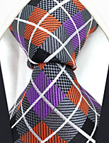 Men's Silk Neck Tie,Grid Check All Seasons