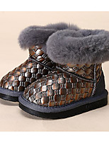 Girls' Shoes Leatherette Winter Fluff Lining Snow Boots Boots For Casual Gray Black