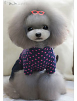 Dog Jumpsuit Dog Clothes Casual/Daily Tiaras & Crowns Dark Blue Fuchsia Costume For Pets