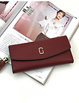 Women Bags PU Wallet Zipper for Casual All Seasons Blue Black Red Blushing Pink Sky Blue