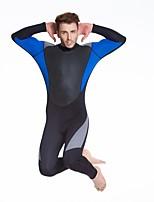 Per uomo 1,5 mm Mute stagne Asciugatura rapida Spandez Scafandro Manica lunga Abbigliamento a compressione-Nuoto Immersioni Inverno Tinta