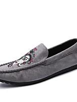 Homme Chaussures Polyuréthane Printemps Automne Moccasin Mocassins et Chaussons+D6148 Pour Décontracté Noir Gris