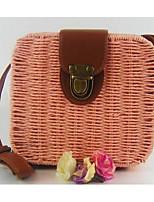 Women Bags All Seasons PU Shoulder Bag Zipper for Casual White Black Blushing Pink