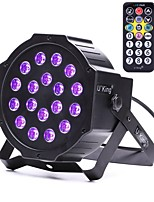 U'King ZQ-B194B-YK 18*1W LEDs Purple Color Auto DMX Sound Activated Par Stage Lighting for Disco Party Club KTV Wedding