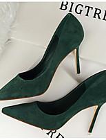 Mujer Zapatos Cuero Patentado Primavera Otoño Confort Pump Básico Tacones Para Casual Negro Naranja Gris Rojo Verde