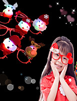 1Pcs Led Flashing Glasses Frame Kids Children Glowing Glasses Eyewear Xmas Party Supplies Design Is Random