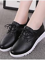 Women's Shoes Breathable Mesh PU Spring Fall Comfort Sneakers Chunky Heel Booties/Ankle Boots For Casual Black White