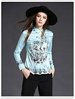 Camicia Da donna Per uscire Casual Vintage Primavera Autunno,Con stampe Colletto Altro Manica lunga Medio spessore