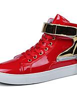 Da uomo Scarpe PU (Poliuretano) Primavera Autunno Anfibi Sneakers Nastro a strappo Per Casual Bianco Nero Rosso