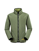 Men's Casual/Daily Hoodie Jacket Solid Stand Micro-elastic Cotton Long Sleeve Winter