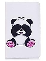 Portefeuille porte-cartes panda pattern avec étui en cuir magnétique pu boîtier en cuir pour samsung galaxy tab e 9.6 t560 t561 Tablette