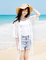 Women's Going out Cute Summer T-shirt,Solid Round Neck Half Sleeves Others Thin