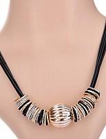 Жен. Ожерелья-бархатки Ожерелья с подвесками Синтетический алмаз В форме квадрата Геометрической формы Сплав Бижутерия Назначение Для