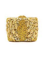 Women Bags All Seasons Special Material Evening Bag Crystal Detailing for Wedding Event/Party Gold