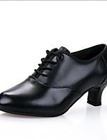 Women's Modern Faux Leather Heel Performance Black