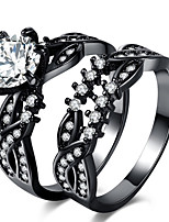 Муж. Жен. Классические кольца Обручальное кольцо Цирконий Циркон Сплав Геометрической формы Бижутерия Назначение Свадьба Для вечеринок