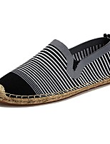 Men's Shoes Tulle Spring Fall Comfort Loafers & Slip-Ons For Casual Red Black White