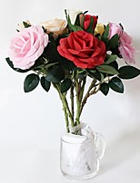 1Piece/Set 1 Branch Silk Roses Tabletop Flower Artificial Flowers