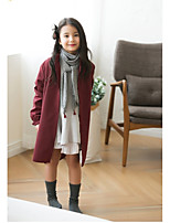 Girls' Solid Jacket & Coat,Cotton Winter Long Sleeve