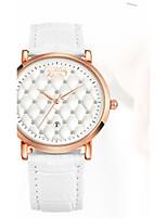 Жен. Модные часы Кварцевый Кожа Группа Черный Белый Красный Коричневый