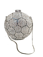 Women Bags All Seasons Metal Evening Bag Crystal Detailing for Wedding Event/Party Formal Silver