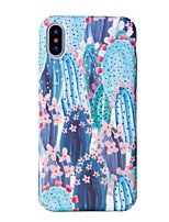 baratos -Capinha Para Apple iPhone X iPhone 8 Estampada Capa traseira Árvore Rígida PC para iPhone X iPhone 8 Plus iPhone 8 iPhone 7 Plus iPhone 7