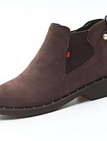 Для женщин Обувь Полиуретан Осень Удобная обувь Армейские ботинки Ботинки На толстом каблуке Круглый носок Ботинки Сапоги до середины икры