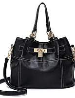 Women Bags All Seasons PU Tote Zipper for Casual Office & Career Black
