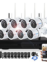 yanse® plug and play 8ch sans fil nvr kits 960p étanche ir vision nocturne sécurité wifi ip caméra 36leds surveillance cctv système dvr