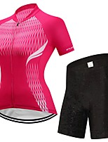 FUALRNY® Cycling Jersey with Shorts Women's Short Sleeves Bike Clothing Suits High Elasticity LYCRA® Summer Cycling/Bike Red