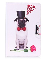 portafoglio del portafoglio del modello del cane con la cassa di cuoio magnetica di vibrazione del basamento per la linguetta della