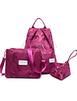 Women Bags Nylon Bag Set Pattern / Print Zipper for Casual Outdoor All Seasons Blue Black Purple Fuchsia